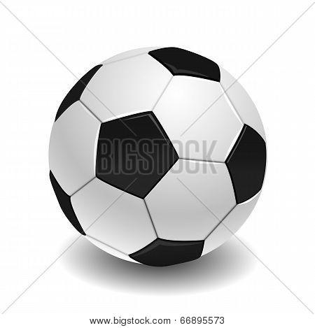 soccer ball on white background.