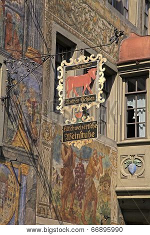 Signboard Of Restaurant, Stein Am Rhein, Switzerland