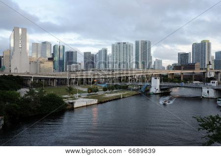 Miami River, Florida Usa