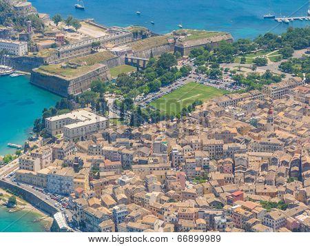 Aerial view of Corfu town in Kerkyra islandGreece