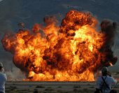picture of blown-up  - large explosion - JPG