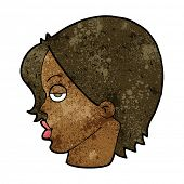foto of raised-eyebrow  - cartoon woman raising eyebrow - JPG