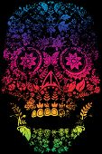 foto of day dead skull  - Day of the Dead Sugar Skull Design - JPG