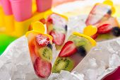 stock photo of popsicle  - frozen strawberry - JPG
