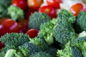 image of picking tray  - A tempting tray of healthy vegetables featuring a shallow depth of field - JPG