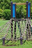 foto of pubic  - children playground at pubic park in summer season - JPG