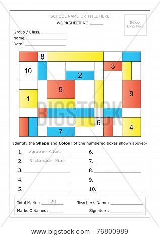 Worksheet - Identify Shape & Colour