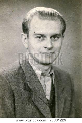 GERMANY, CIRCA 1930: Vintage photo of man