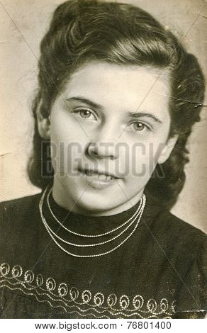 FRANKFURT AM MAIN, GERMANY, CIRCA 1930: Vintage photo of woman