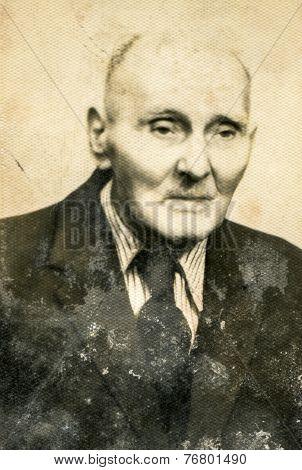 GERMANY, CIRCA 1930: Vintage photo of elderly man