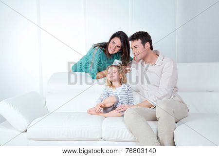 Family Looks Happy