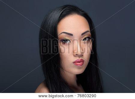 Beauty Portrait Of Handsome Asian Girl