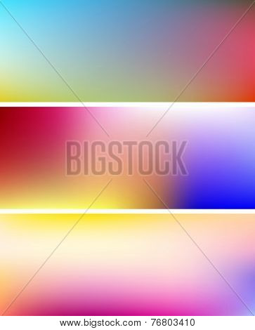 Multicolor Gradient Banners