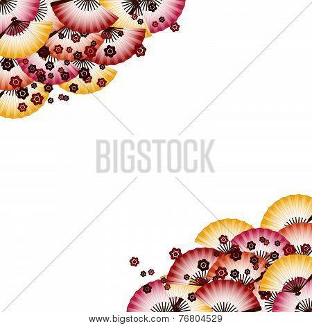 Japanese Fan Pattern Background