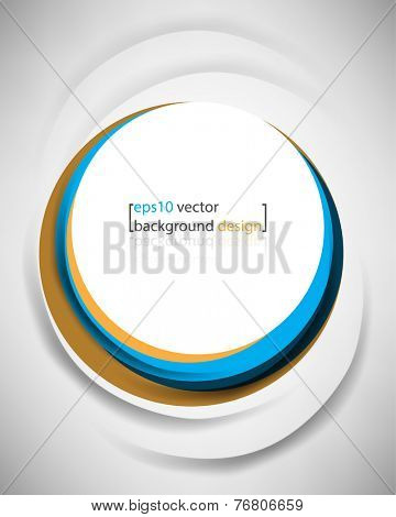 eps10 vector overlapping geometric frame circle business background