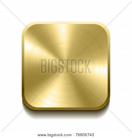 Realistic gold button