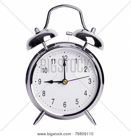 Exactly Nine O'clock On Alarm Clock