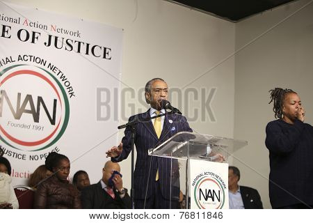 Rev Al Sharpton on stage at NAN
