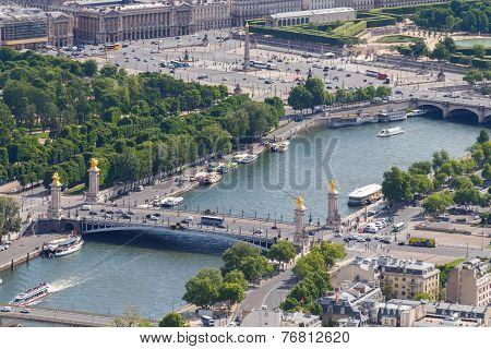 Alexander Iii Bridge In Paris.
