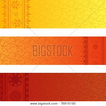 Colorful Indian saree banners