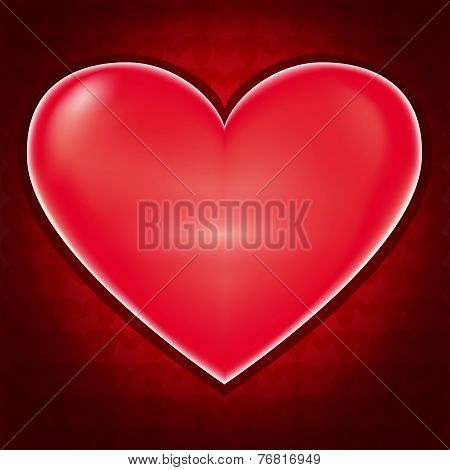 Love Background With Heart For Valentines Day
