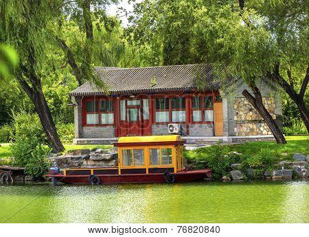 Boat Buidling Canal Summer Palace Beijing China