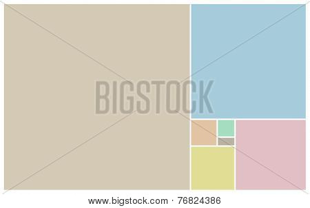 Pastel Blocks Of Colours On White