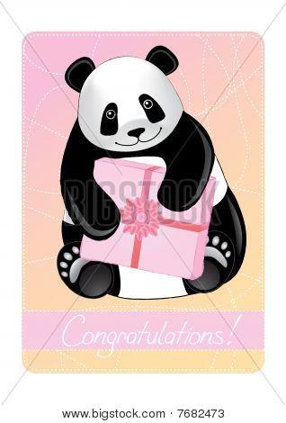 Greeting card of a panda.