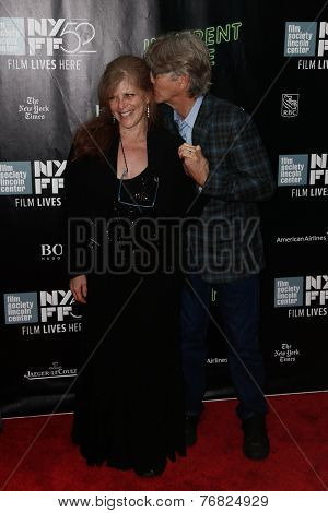 NEW YORK-OCT 4: Actor Eric Roberts (R) and wife Eliza Roberts attend the 'Inherent Vice' world premiere at the 52nd New York Film Festival at Alice Tully Hall on October 4, 2014 in New York City.