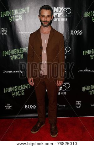 NEW YORK-OCT 4: Actor Jeremy Strong attends the 'Inherent Vice' Centerpiece Gala Presentation & World Premiere at the New York Film Festival at Alice Tully Hall on October 4, 2014 in New York City.