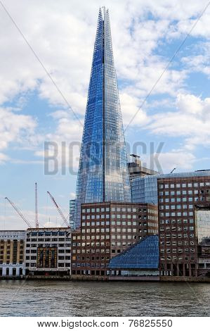 Shard of glass on the river Thames