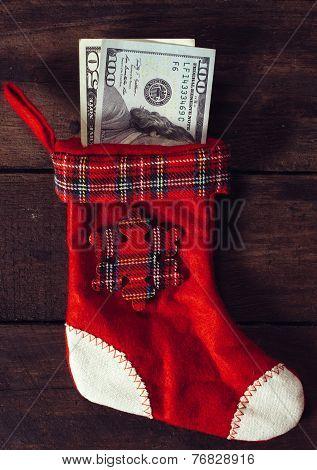 Traditional Christmas sock