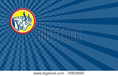 Business Card Mountain Goat Ram Head Circle Retro
