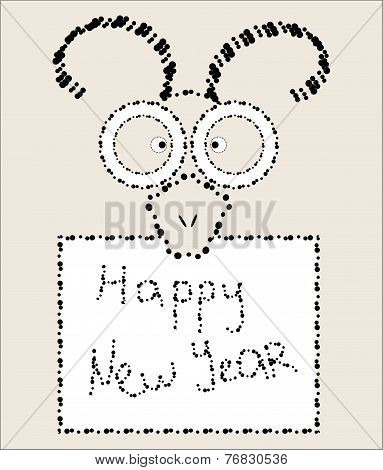 2015 Chinese New Year of the Goat eastern elements composition card