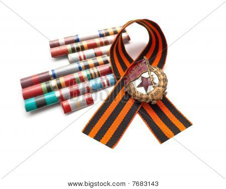 Great Patriotic War Medal On A White Background - A Second World War Symbol