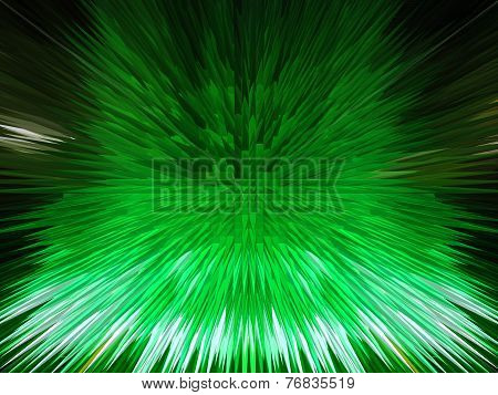Green Abstract Background With Sharp Thorns