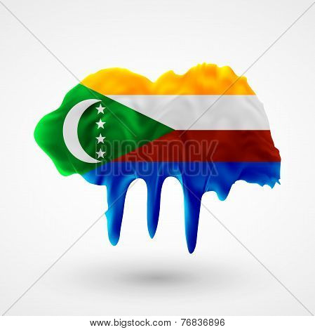 Flag of Comoros painted colors