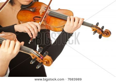 Violinists No Face Isolated