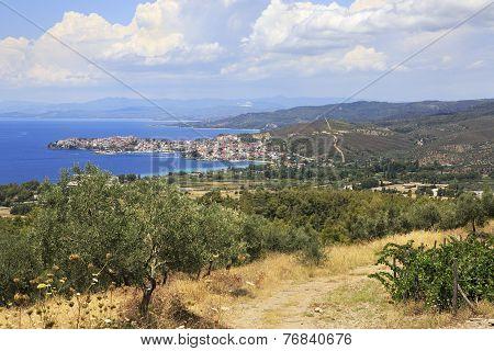 Neos Marmaras on the Aegean coast.