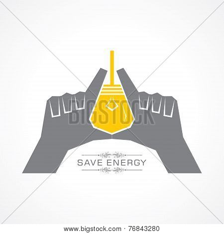 Save energy concept stock vector
