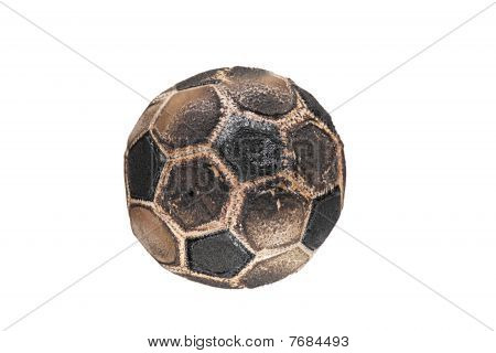 Burnt soccer ball