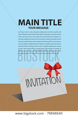 Invitation Card Design Background Layout Template