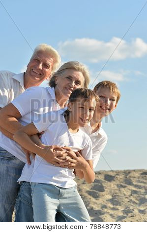 boys with their grandparents