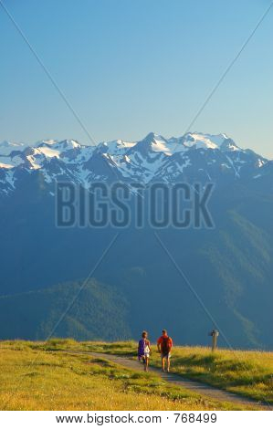 Couple on the hiking trail