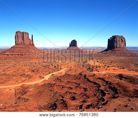 Buttes, Monument Valley.