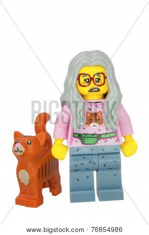 Mrs Scratchen Post Lego Minifigure