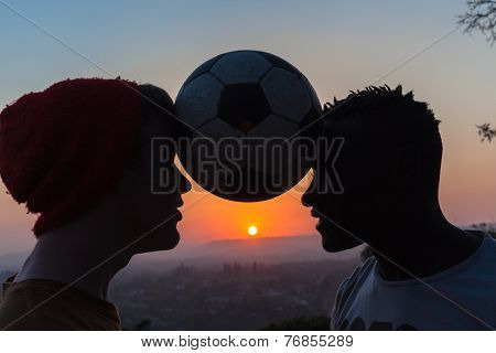 People Heads Ball Sunset