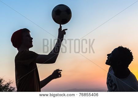 People Soccer Ball Hangout