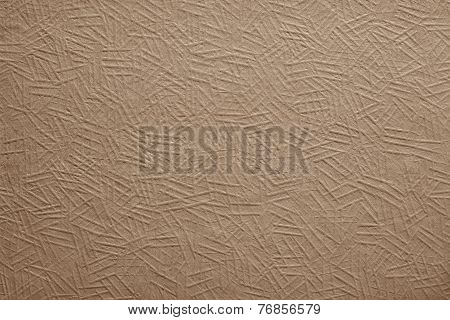 Painted Paper Or Cardboard Of Brown Color