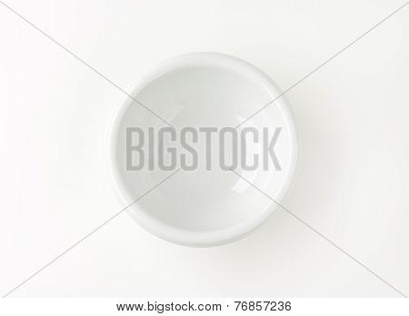 empty white bowl on white background